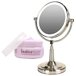 Battery Operated Vanity Mirror Lights : Amazon.com: Zadro LEDV45 Battery Powered LED Lighted Vanity Mirror and Cuccio Body Butter Kit ...