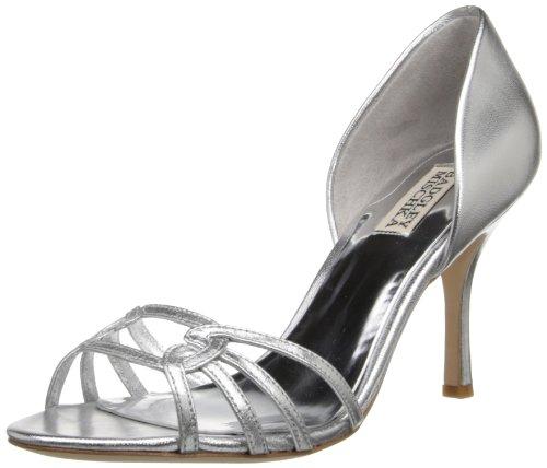 Badgley Mischka Women's Kennedy Dress Sandal,Silver,9.5 M US