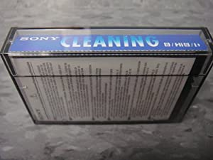 Sony V8-6CLD 8mm / Hi8 / Digital8 Camcorder Video Head Cleaning Cassette