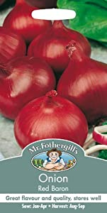 Mr. Fothergill's 16769 150 Count Red Baron Onion Seed