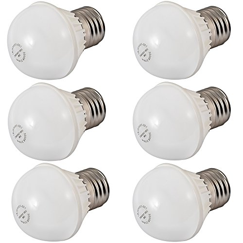 Ljy 6Pcs Pack E27 3W 210Lm Globe Led Mini Ball Bulbs Energy Saving Lamps Ac100-240V (Warm White)