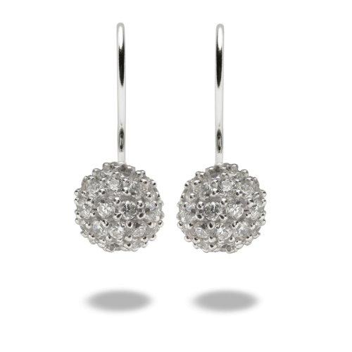 Rafaela Donata Damen-Ohrhänger Classic Collection 925 Sterling Silber Zirkonia weiß  60800199