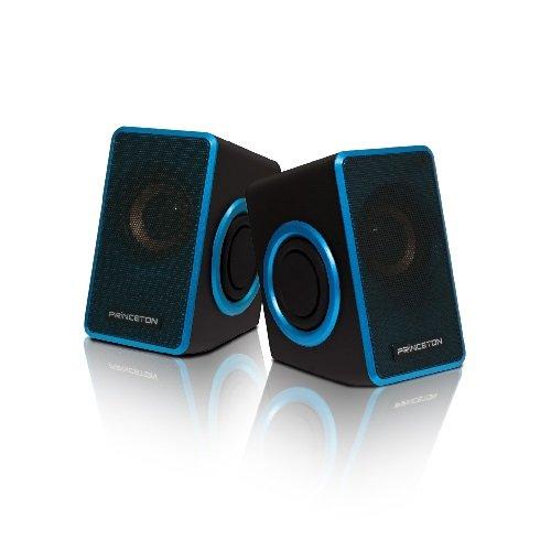 プリンストン USB電源式スピーカー(デュアルパッシブラジエーター搭載) 有線式リモコン付き ブルー PSP-DPRB