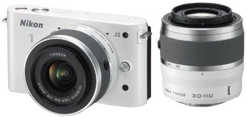 Nikon デジタル一眼カメラ Nikon 1 (ニコンワン) J2 ダブルズームキット ホワイト N1J2WZWH