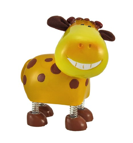 Smiling Giraffe Coin Bank with Spring Legs and Cloth Ears - 1