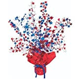 Star Gleam N Burst Centerpiece (red, white, blue) Party Accessory (1 count) (1 Pkg)