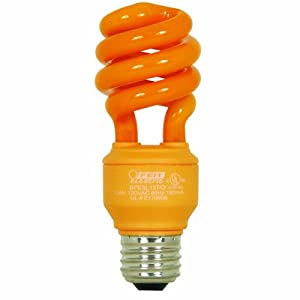 Click to buy Halloween Outdoor Lights: Feit Electric BPESL13T/O 13-Watt Compact Fluorescent Mini Twist Orange Bulb from Amazon!