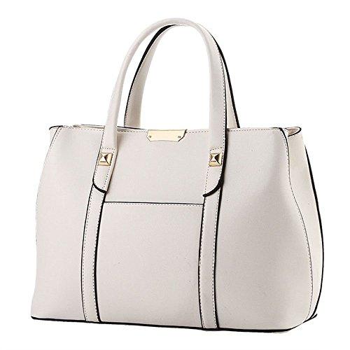 Van'an Women's Vintage Sling Tote Bags High-capacity Top Handle Handbag(White)