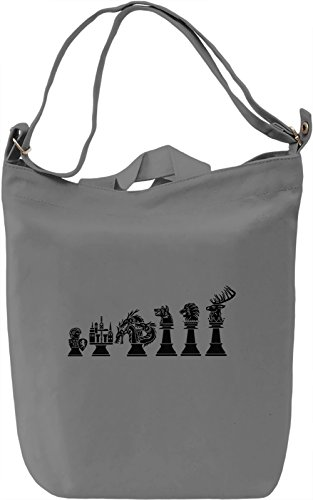 Chess of Thrones Borsa Giornaliera Canvas Canvas Day Bag| 100% Premium Cotton Canvas| DTG Printing|