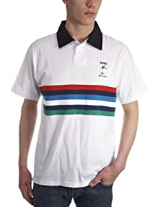 RBS 6 Nations Men's Jersey Stripe Polo - White/Multi, XX-Large
