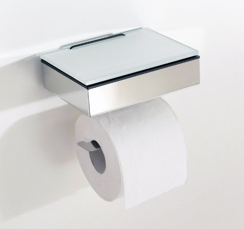 Feuchttücherbox / Rollenhalter Edelstahl -Kombination – Made in Germany