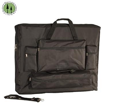 "DevLon NorthWest Universal Massage Table Carrying Case-30"" 4 Front Pockets Black"