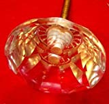 Stunning Large Cut Crystal Glass Drawer Knob Pull Extraordinary Antique style
