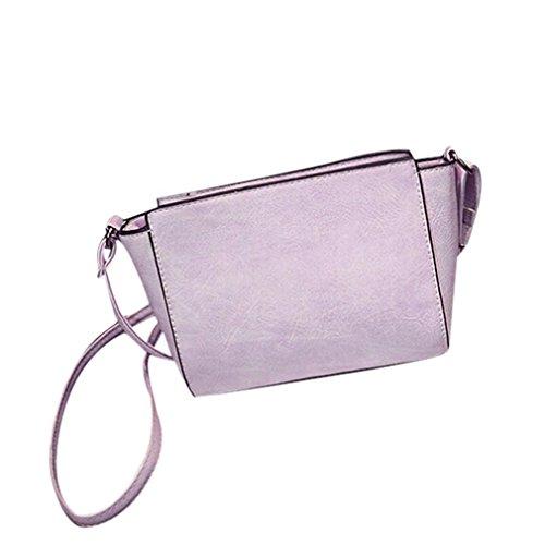 Koly_cuoio donne spalla Bauletto retro borsa Messenger Bag (Viola)