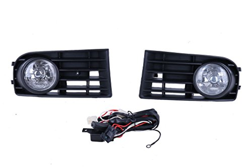 KittyParty 2 Pieces/set Fog Lights Lamps Grille for VW Golf 5 Mk5 Rabbit 2003-2009 (Vw Golf Mk5 Fog Lights compare prices)