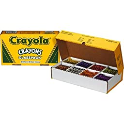 Crayola 400-count Large Size Crayon Classpack with Safely Experience Imaginative Artwork 8 Different Brilliant Assorted Colors