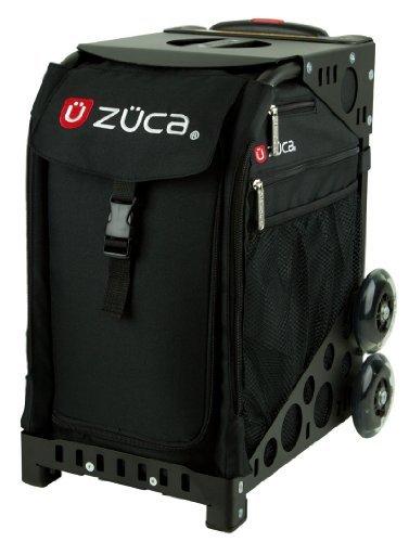 Zuca-Obsidian-Sport-Insert-Bag-Black-wred-white-logo-embroidery-with-Black-Non-Flashing-Wheels-Sport-Frame