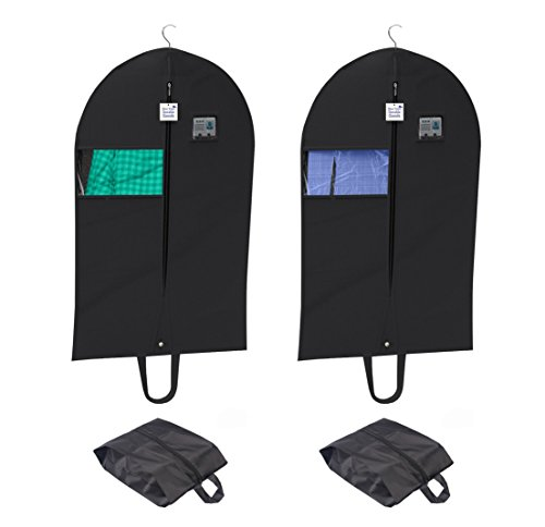 [Set of 4] Breathable Garment Set, Set of Two Suitcase Covers 42 Inch with Set of Two Shoe Bags, Suit Carriers, Dresses, Linens, Window Viewing, Easy Carrying Shoulder Straps,PVC Card Holder (Personalized Zebra Garment Bag compare prices)