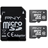 PNY Android microSD Card 8 GB Twin Pack 2x Class 1