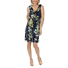 Product Image Merona® Women's Ruffle Front Faux Wrap Dress - Blue/Green