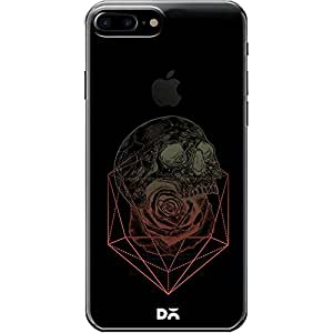 DailyObjects Skull Rose Geometric Clear Case For iPhone 7 Plus