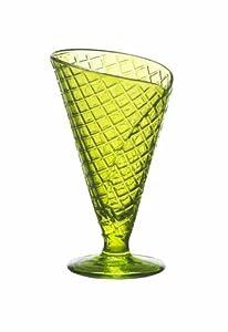 Bormioli Rocco Gelato Ice Cream Glasses, Lime Green, Set of 6 by Bormioli Rocco