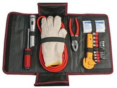 PK Green Emergency Car Kit For Breakdowns Jump Leads Ratchet Screwdriver Set Gloves First Aid