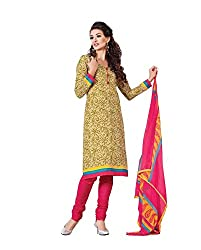 CHINTAN TEXTILE Ethnicwear Women's Dress Material(Yellow_Free Size)