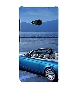 EPICCASE Blue Car Mobile Back Case Cover For Nokia Lumia 535 (Designer Case)
