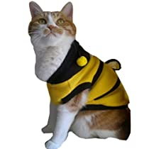 Vktech Dog Cat Pet Supplies Lovely Bumble Bee Dress Up Costume Apparel Coat Clothes