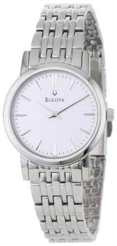 Bulova Women's 96L131 Silver Stainless-Steel Quartz Watch with Silver Dial