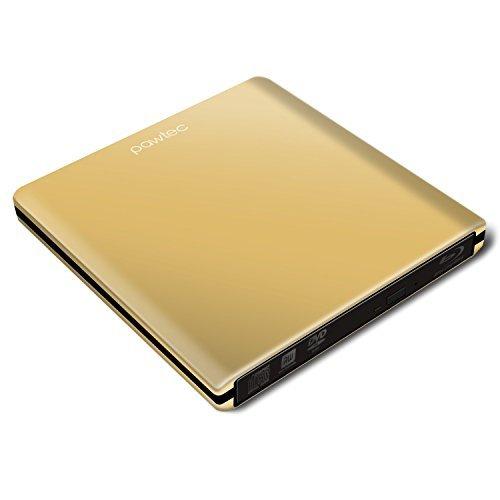 Pawtec luxe Slim Externe USB 3.0 en aluminium 6 x lecteur graveur Blu-Ray 3D/brûleur édition Gold