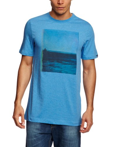 Etnies Float Away Shortsleeve Printed Men's T-Shirt Blue/Heather X-Large