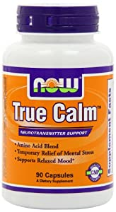 NOW Foods True Calm Amino Relaxer, 90 Capsules