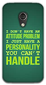 The Racoon Grip printed designer hard back mobile phone case cover for Moto G 2nd Gen. (Attitude P)