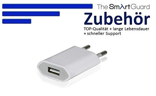 Original THESMARTGUARD® Samsung Galaxy S5 Netzteil Adapter Ladegerät in weiß - NEU mit überarbeiteter Ladegeschwindigkeit von bis zu 2.1A!