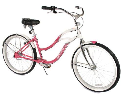 Sonoma Women's Chainless Drive Evolution Sunset Beach Cruiser Bike