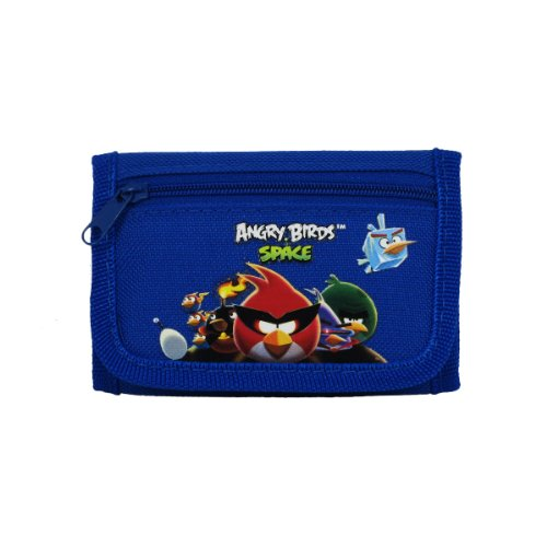 Officially Licensed Rovio Velcro Closure Tri Fold Wallet Angry Birds Space