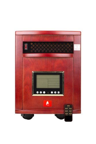 Premium Cherry 1,000Sq Ft Indoor Quartz Infrared Atlas Heater With Remote Control (6 Quartz Emitters!) & Two Year Warranty!