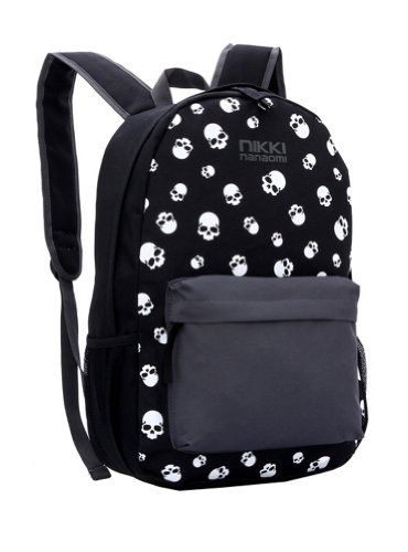 Fedo Design Punk Style Skull Pattern Casual Backpack