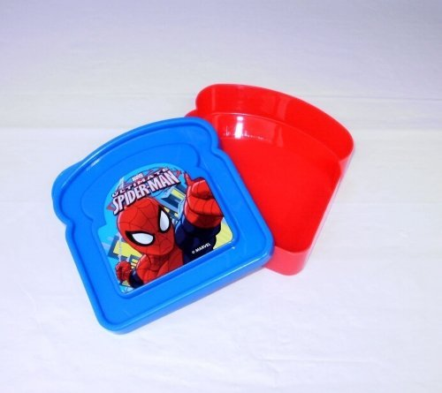 Spiderman 'Toast Shaped' Character Lunch Box - 1