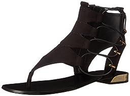 Aldo Women\'s Athena GLADIATOR Sandal, Black, 5 B US