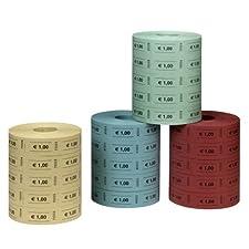 Herlitz 10733368 Lot de 5 x 1000 étiquettes de prix colorées 1 euro (Import Allemagne)