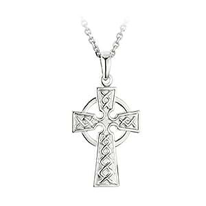 mens celtic cross necklace small 1 silver 2. Black Bedroom Furniture Sets. Home Design Ideas