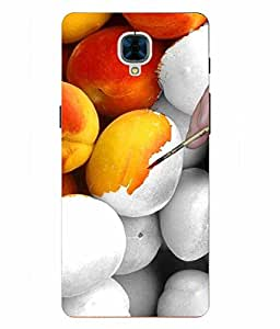 Snazzy Abstract Printed Colorful Hard Back Cover For OnePlus 3