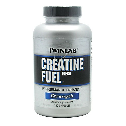 Twinlab Creatine Fuel Mega Performance Enhancer, Strength, Capsules, 120-Count Bottle