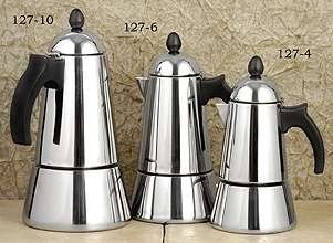 European Gift 127-4 Stove Top Espresso Coffee Maker- 4-Cup Item 127-4