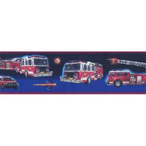 Fire Brigade Peel and Stick Wallpaper Border