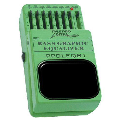 Pyle-Pro Ppdleqb1 7-Band Graphic Equalizer Bass Guitar Pedal