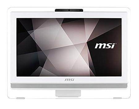 """MSI PRO 20ET 4BW-004XEU Ordinateur de bureau Tout-en-Un Non tactile 19""""(48,26 cm) Blanc (Intel Celeron, 4 Go de RAM, 500 Go, Intel HD Graphics)"""
